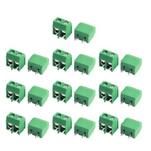 12A 300V 2way Screw Terminal Block Connector 5.08mm Pitch Green