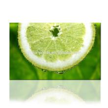 Impressão da lona da limão fresca / foto da fruta Impressão digital na lona / arte da parede para a sala de visitas