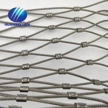 Rede de segurança de aço inoxidável dos animais da malha de fio da corda da rede de corda SUS304 que protege a malha