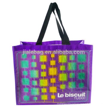 Hot selling extra large foldable PP woven shopping bags in pouch