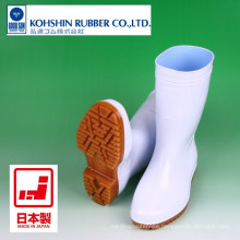 PVC injection boots for kitchen and food factory use. Manufactured by Kohshin Rubber. Made in Japan (safety rain boots)