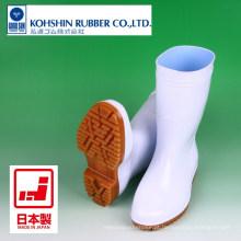 Botas de injeção de PVC para uso na cozinha e na fábrica de alimentos. Fabricado por Kohshin Rubber. Feito no Japão (botas de chuva de segurança)