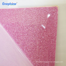 Custom size wall advertising decorative glitter cast acrylic sheet