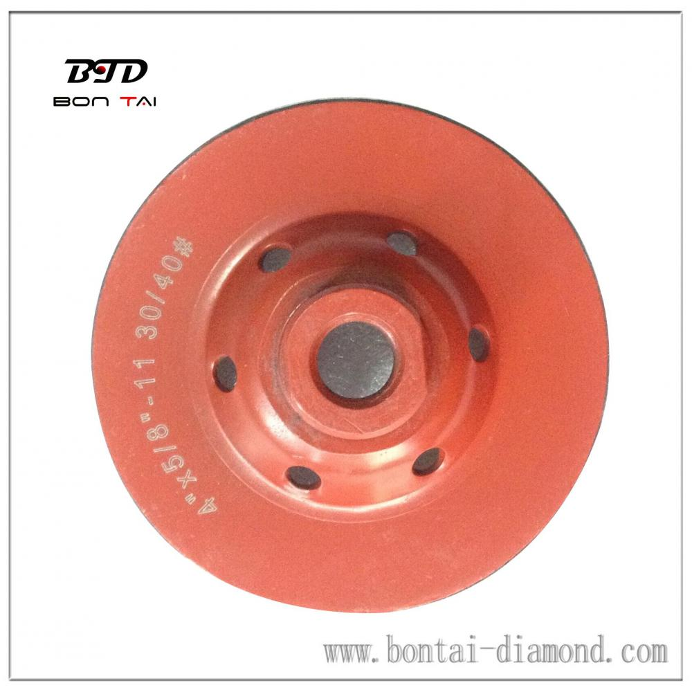 Iron based 100mm Cup Wheels for Stone and Concrete