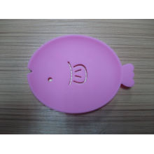 Silicone Fish Shape Soap Mat Soap Holder for Bathroom