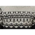 50% Moelleux en laine à laine 50% Pull en jacquard en nylon pour hommes