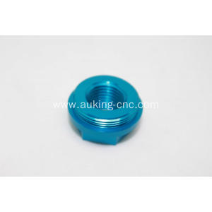 sky blue anodized screw