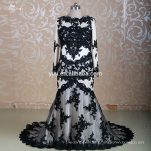 RSW1310 с длинным рукавом два кусок Черного мусульманских Свадебные свадебное платье