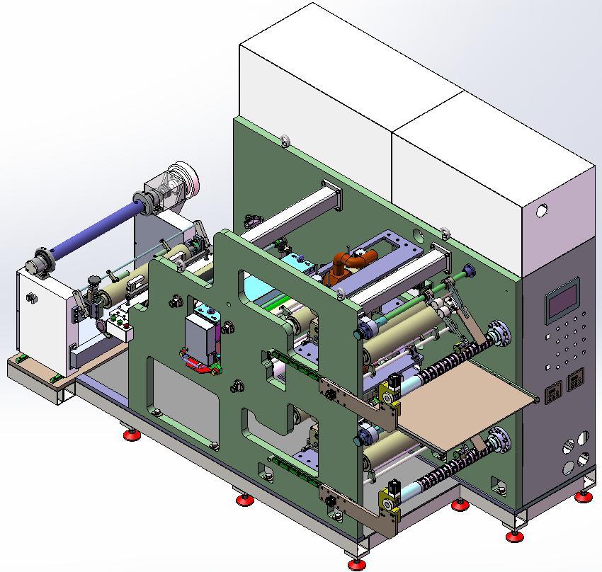 automatic battery electrode slitting machine