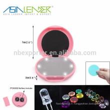 6LED / 0.5W / 30LM LED Miroir portable, Pocket LED miroir de maquillage