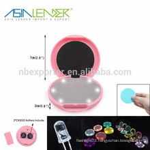 6LED / 0.5W/30LM LED Portable Mirror, Pocket LED Makeup Mirror