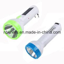 Rechargeable Solar LED Flashlight