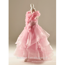 Wholesale children's clothing girls dresses pink beauty flower lace girl dress ED635
