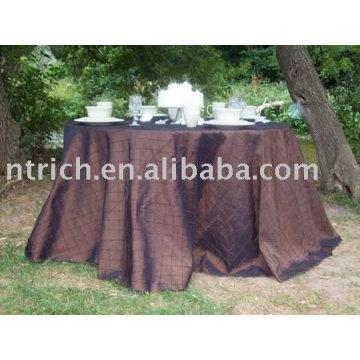 Toalha de mesa, capa de tafetá de mesa, toalhas de mesa pintuck, tampa de tabela do hotel/banquete