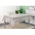 cubierta de mesa de tela de mesa de encaje de plástico impreso en pvc
