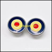 Botón de los pantalones vaqueros de latón con tres colores de esmalte
