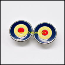 Brass Jeans Button with Three Colors Enamel