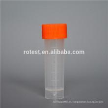 Muestra crovial de 5 ml de tubo crio de plástico
