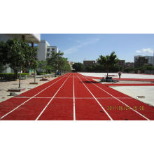 100% Pe Synthetic Grass Turf For Running Track,  9000 Dtex 25mm Red Artificial Sports Turf