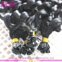 Fábrica diretamente preço extensões remy do cabelo humano brasileiro melhores extensão de cabelo qualidade ponta lisa lisa dica cabelo