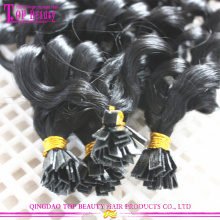 Фабрика непосредственно цена плоский кончик расширение лучшие качества remy человеческих волос бразильский волос плоский отзыв волос