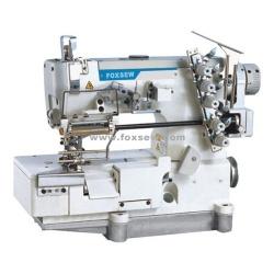Flatbed macchina per cucire di interblocco per pizzo elastico con rifilo