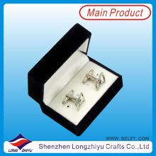 Оптовая изготовленный на заказ серебряный пустой запонки для мужчин