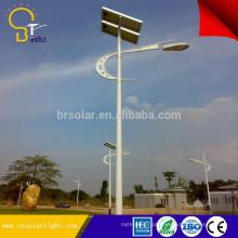 luz solar galvanizada da segurança do sensor de movimento do pólo de aço