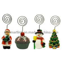 Polyresin Christmas Santa, Snowman, Christmas Tree, Clip Holder Gifts