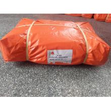 Orange color PE tarpaulin for covering