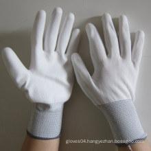 White PU Gloves Electrical Hand Safety Work Glove
