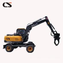 Excavadora de rueda 6T / 7Ton conducida cuatro ruedas de la venta caliente