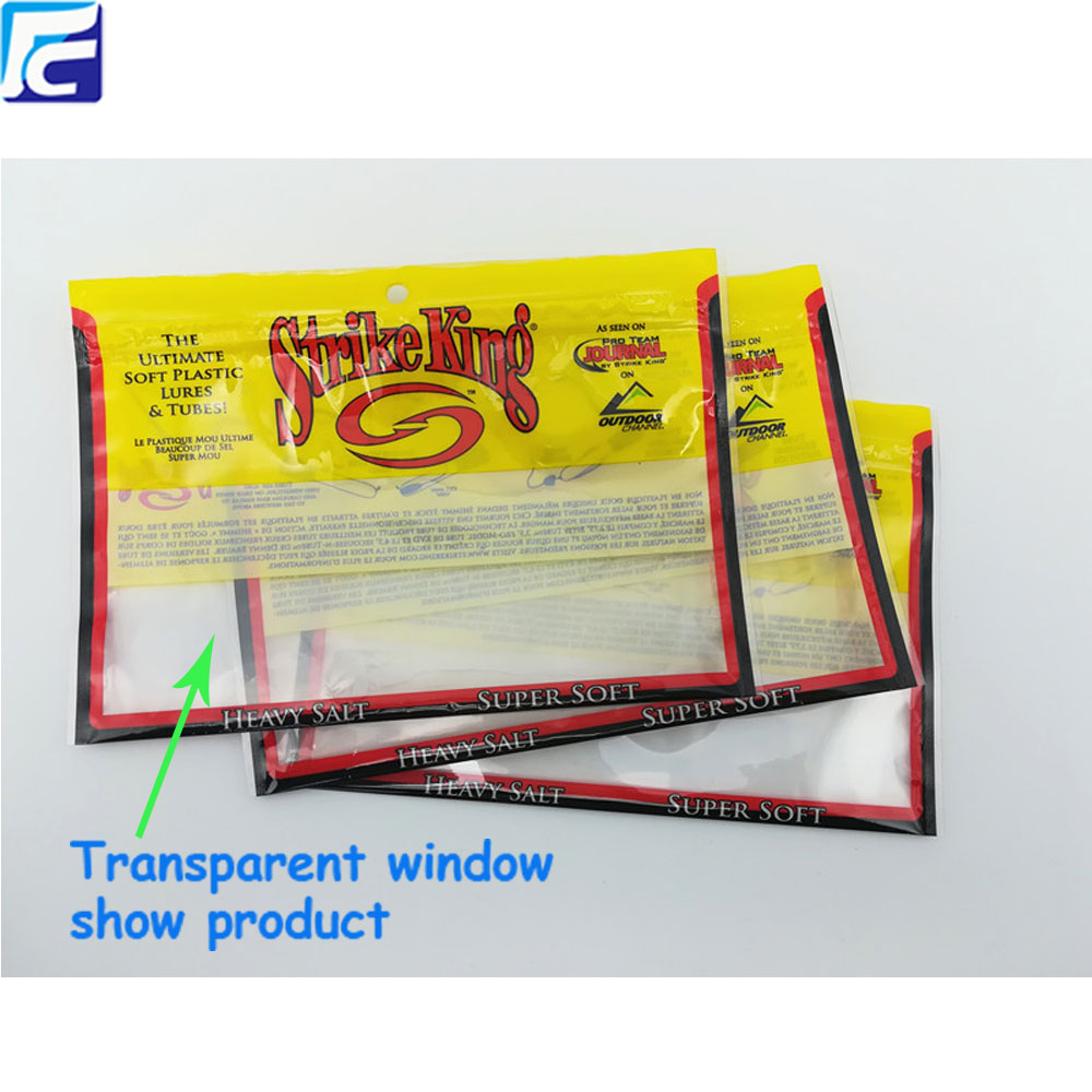 Transparent ziplock bag