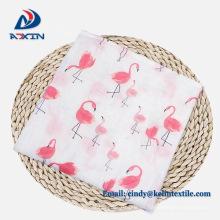 Muselina orgánica personalizada de alta calidad 100% algodón 6 capas de gasa manta de bebé