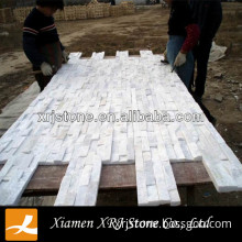 china white quartz wall cladding stone/cutural stone