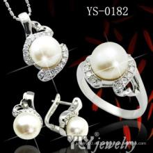 Art- und Weisegroßverkauf 925 silbernes Perlen-Set (YS-0182)