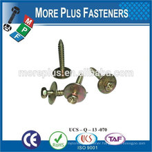 Made in Taiwan M8x25 Indent Hex Head with Spring Washers Flat Washers Assembled Sems Screws
