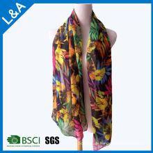 Polyester Chiffon Schal weiblichen Blumen Schal Schal