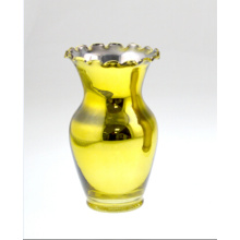 Yellow Vase with Lace for Holiday