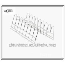Estante de la placa del metal del hogar y estante del plato y estante del tazón de fuente