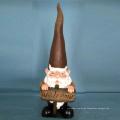 Peaked Cap Dwarf mit Welcome Garden Gnome Statue Dekoration