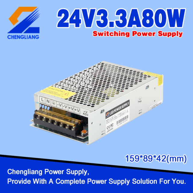 LED Power Supply DC 24V 80W Untuk Strip LED