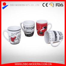 Alta qualidade Publicidade logotipo impresso porcelana caneca