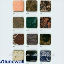 Painel composto de alumínio da cor da grão do revestimento do mármore / da largura de Alunewall 2 medidores