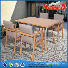 Powder Coated Aluminium Dining Furniture Garden Dining Set