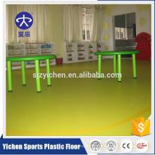 piso de pvc usado piso de jardim de infância / vinil piso de plástico usado interior