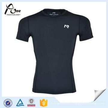 Лайкра сжатия сжатого базовый слой T-рубашки для мужчин