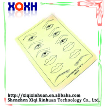 High quality permanent makeup Eyebrow Lips Picture Tattoo Simulation skin,rubber fake practice skin