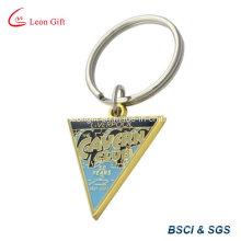 Triângulo personalizado / forma Trigon esmalte chaveiro