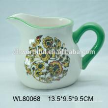 Jarro de leche de cerámica barato pintado a mano en alta calidad
